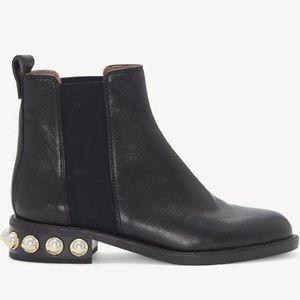Louise et Cie Valtina Leather Block Heel Boot Sz 9